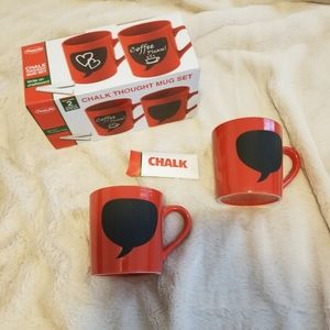 Adorable Chalk Thought Mug Set!